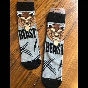 2 NEW Beast socks from Beauty and the Beast